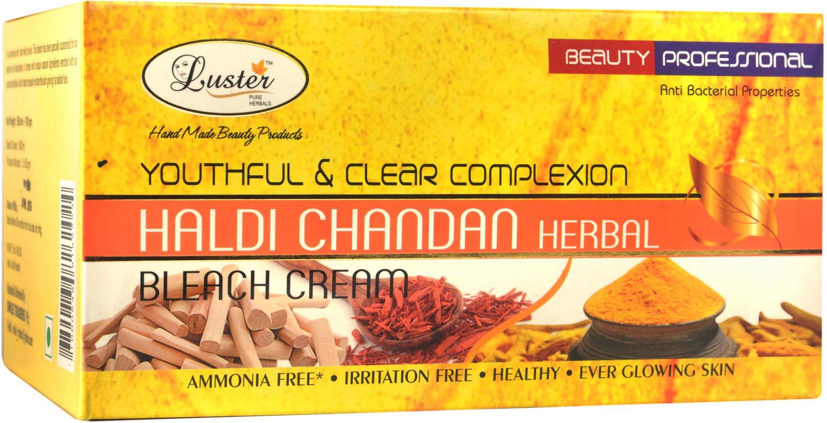 Luster Youthful & Clear Complexion Haldi Chandan Bleach Cream (with Pre Bleach Cream & Post Bleach Pack) Cream(500 ml)