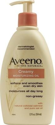 Aveeno Active Naturals Creamy Moisturizing Oil, 1 Pump Bottles, (pack Of 2)(354 ml)
