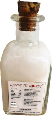 Roots To Roses TUlsi and Rose Antitanning Moisturising Lotion.