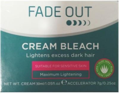 Fadeout Cream Bleach Lightens Excess Dark Hair