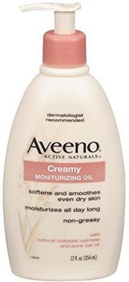 Aveeno Active Naturals Creamy Moisturizing Oil, 1 Pump Bottles (pack Of 3)(354 ml)