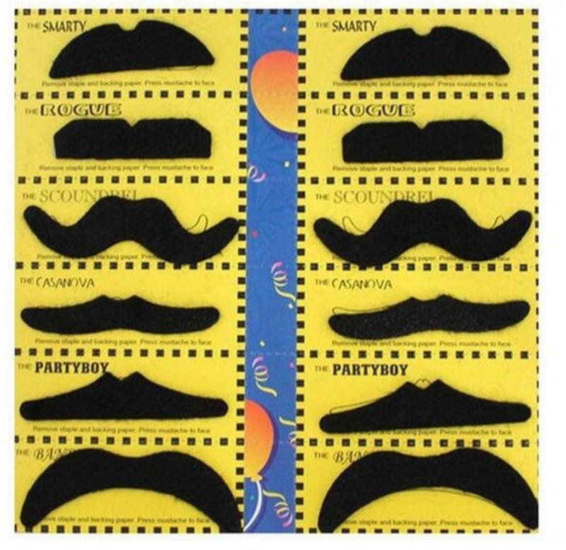 Fancy Steps English Fake Moustache(Black)