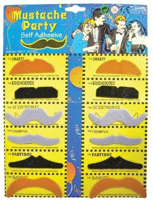 Mypartyshoponline English Fake Moustache(Multicolor)
