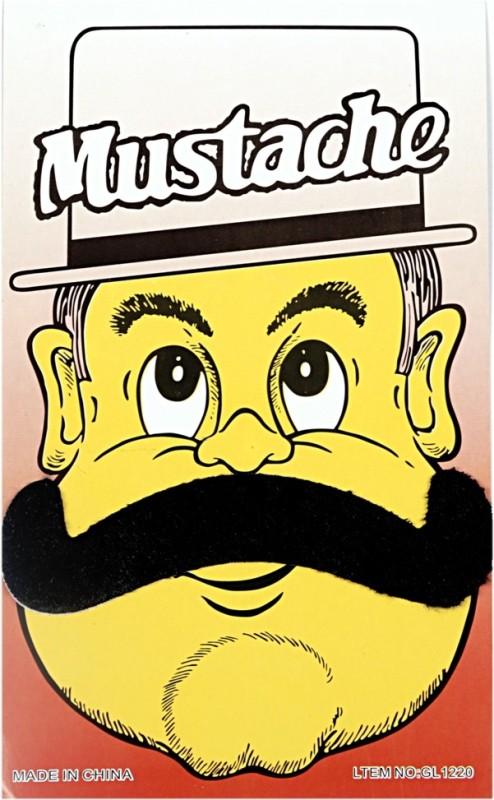 Funcart Handlebar Fake Moustache(Black)