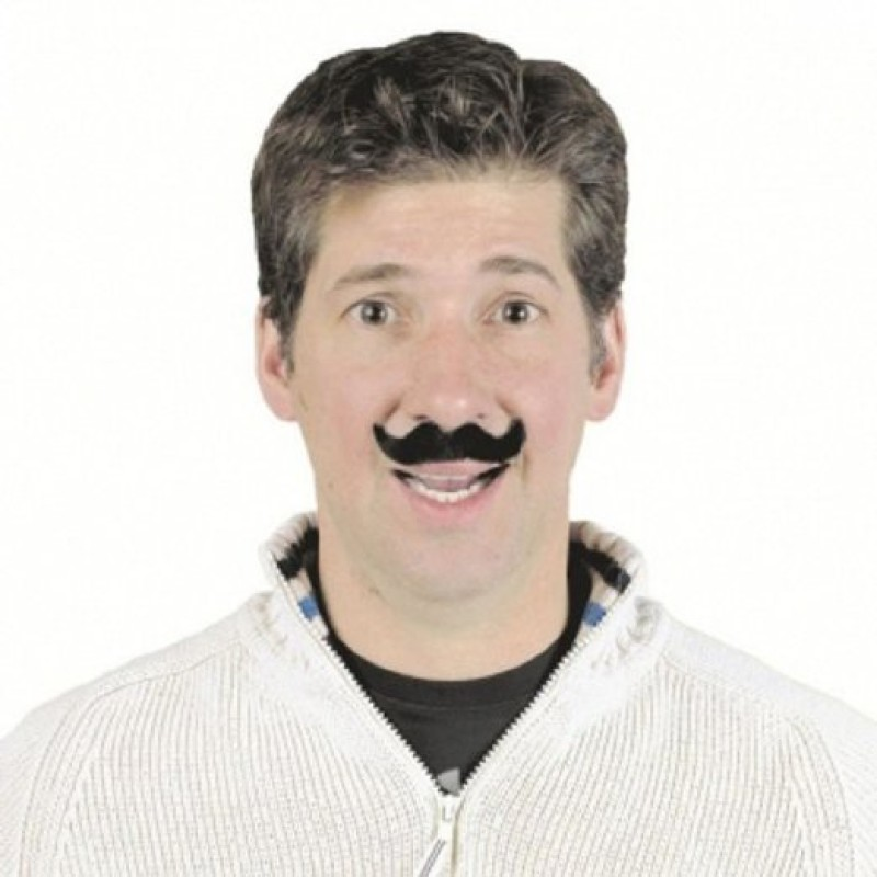 Amscan French Style Fake Moustache(Black)