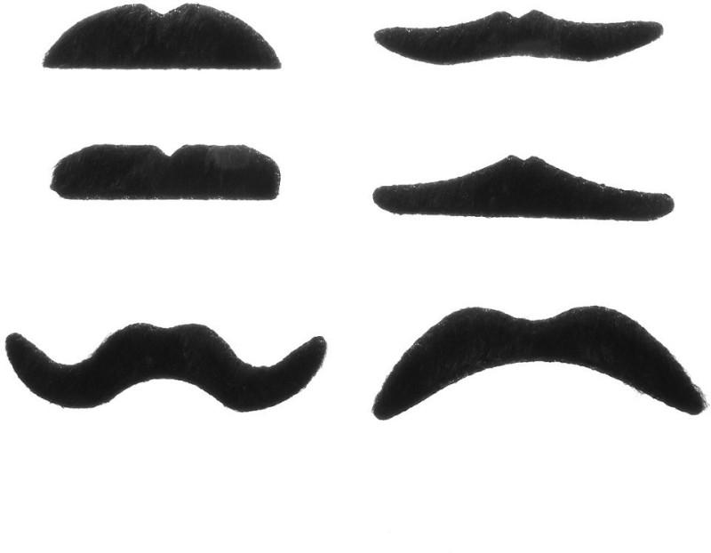 Futaba Handlebar Fake Moustache(Black)