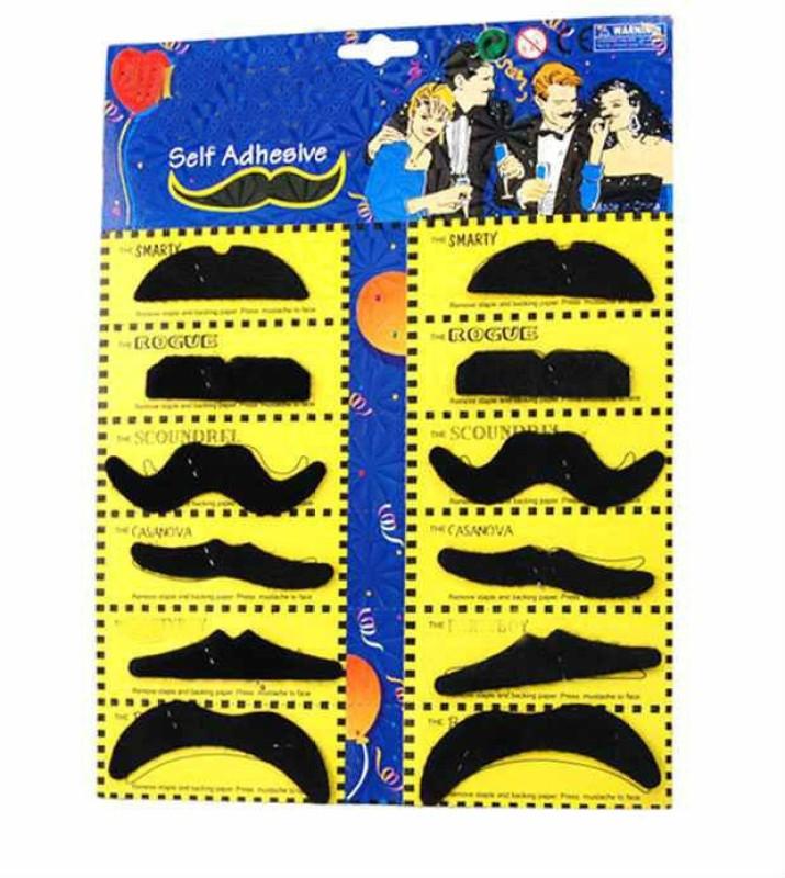 Shrih English Fake Moustache(Black)
