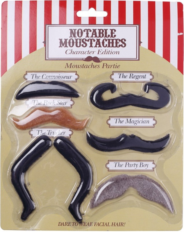 Madcaps The Partyshop French Style Fake Moustache(Brown)