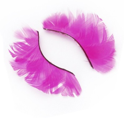 Magideal Feather False Eyelashes with Glue Shocking Pink
