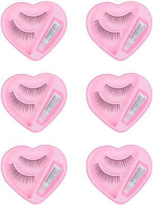 Majik Charming Eyelashes (Pack Of 6 Pairs With Glue)(Pack of 6)
