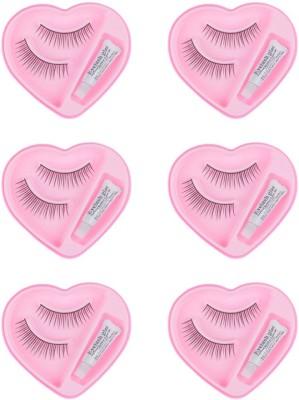 Majik Beautiful Eyelashes With Glue (Pack Of 6 Pairs)