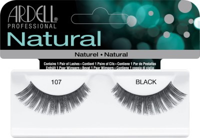 Ardell Natural Strip Lashes107 Black(Pack of 1)