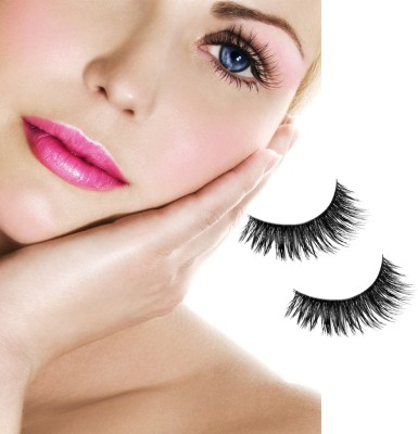Magideal Natural Soft Mink Hair Thick Eye Lashes(Pack of 2)