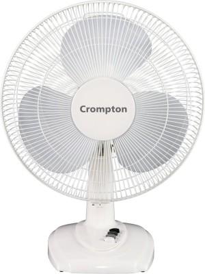 Crompton TFHIFLO16EVA 3 Blade Table Fan(White)  400 mm