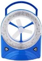Jy Super Rechargeable emergency light 3 Blade Table Fan(Blue)