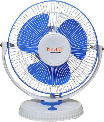 prectise star rotary oval 1 Blade Table Fan(White & blue, Total White, White & red)