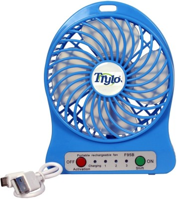 Trylo RECHARGEABLE 4 Blade Table Fan(RED)