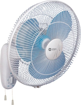 Orient 400 Mm 3 Blade Wall 44 Fan(White, Blue)