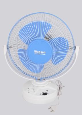 Wapson Turbo Osc 3 Blade Table Fan(Blue, White)