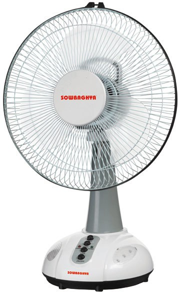 View Sowbaghya RTF03 3 Blade Table Fan(White) Home Appliances Price Online(sowbaghya)