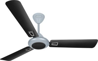 Luminous Enchante 1200 mm Graphica 3 Blade Ceiling Fan(Black, Silver)