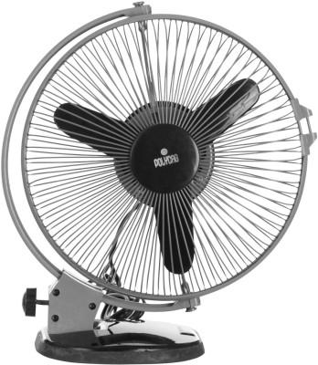 Polycab FTP2000601 50 Watt Plastic Cutie Multipurpose Fan (Grey Black) 3 Blade Wall Fan(Black)