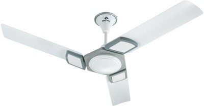 Bajaj Hextrim 1200 mm 3 Blade Ceiling Fan(White)