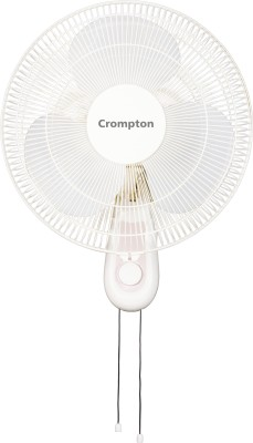 Crompton WMHIFLO 16 WAVE 3 Blade Wall Fan(White)
