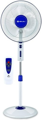Bajaj Victor Remote 3 Blade Pedestal Fan(White) 400mm