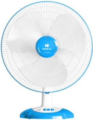 Havells 400 MM SWING LX HS TABLE FAN COOL BLUE 3 Blade Table Fan(Cool Blue)