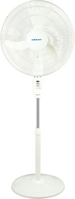 Orient Stand 38 3 Blade Pedestal Fan(White) 400mm