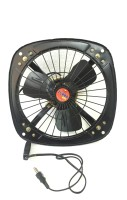 Turbo 4000 Reversible High Speed 9inch 3 Blade Exhaust Fan(Black)