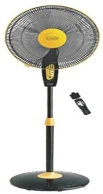 V-Guard Finesta Remote 400mm 3 Blade Pedestal Fan(Black, Yellow)