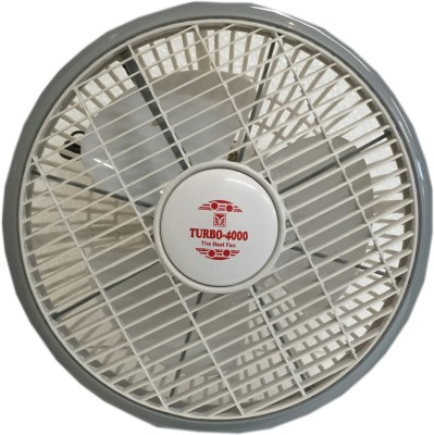 Turbo 4000 Cabin Rotor High Speed 12 inch 3 Blade Wall Fan(White & Grey)