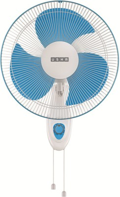 Usha Helix Pro high speed Wall Fan 3 Blade Wall Fan(White, Blue) 400 Mm