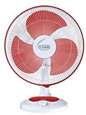 V-Guard Finesta Table Fan 400mm 3 Blade Table Fan(Red)