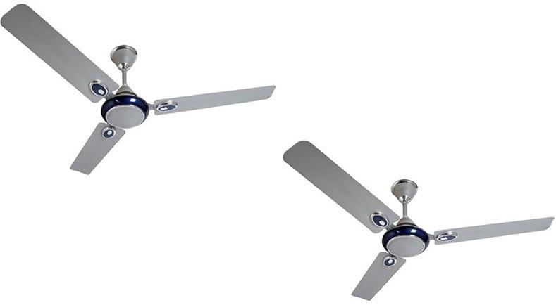 View Omen 48 Inch Ikon 3 Blade Ceiling Fan(Silver Blue) Home Appliances Price Online(Omen)