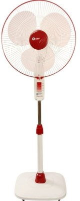 Orient Stand 32 400mm 3 Blade Pedestal Fan(Red, Pink)