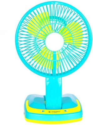 Jy Super Rechargeable Ac-Dc 2 Speed And 21 SMD Light 3 Blade Table Fan(Multi Color)