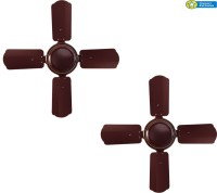 Citron CF002 (Pack of Two) 4 Blade Ceiling Fan(Brown)