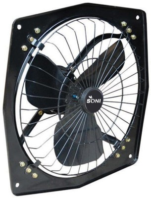 SONI Fresh Air 9 Inch 3 Blade Exhaust Fan(Black)