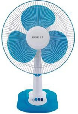 Havells Swing ZX 3 Blade Table Fan(Blue, White) 400mm
