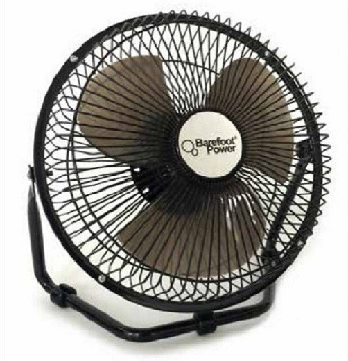 View Barefoot Power 12V 3 Blade Table Fan(Black) Home Appliances Price Online(Barefoot Power)