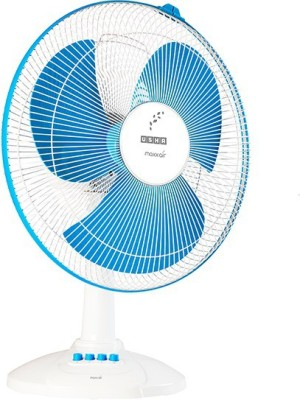 Usha MAXX AIR NEW 3 Blade Table Fan(WHITE/NEW BLUE) 400mm