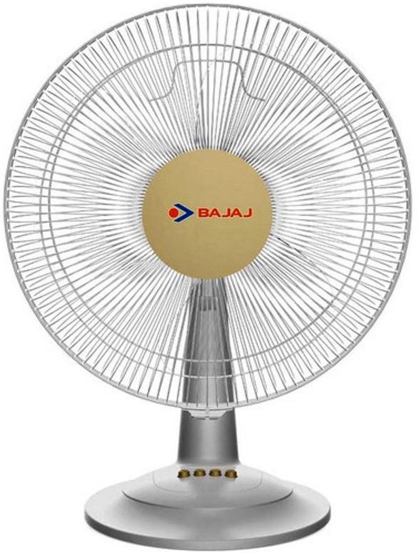 Bajaj Midea Bt07 3 Blade Table Fan(White) 400mm
