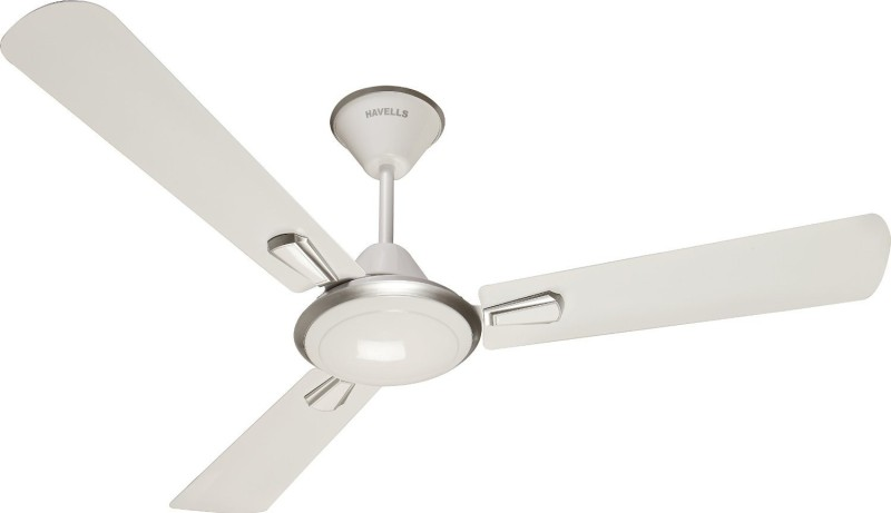 Havells 1200mm Furia White 3 Blade Ceiling Fan(Pearl white silver)