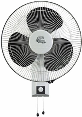 V-Guard Wilma STD 400mm 3 Blade Wall Fan(Black, White)