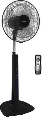 Luminous Brizza 400MM Remote 3 Blade Pedestal Fan(Black)