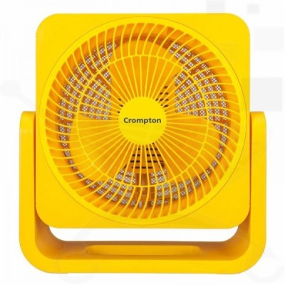 Crompton Greaves Bubbly 200mm 3 Blade Table Fan(Red/ Yellow)