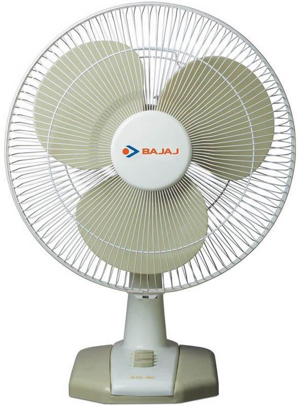 Bajaj Elite Neo 400mm 3 Blade Table Fan(White, Beige)